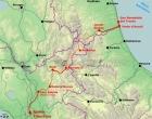 La mappa delle ferrovia Salaria o Dei Due Mari