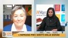 un momento dell'intervista a Marina Turchetti, a sx