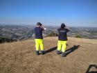 volontari Aiace in servizio vigilanza antincendio