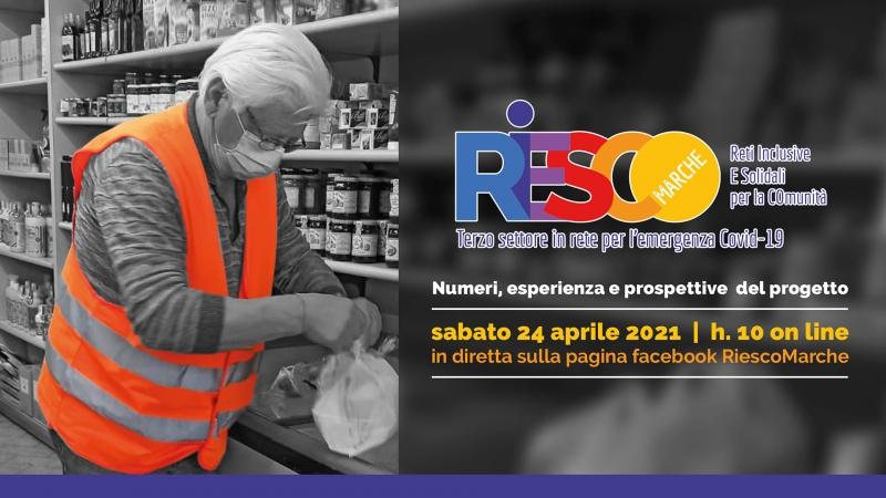 Numeri, esperienza e prospettive del progetto Riesco Marche, il programma dell'evento finale on line