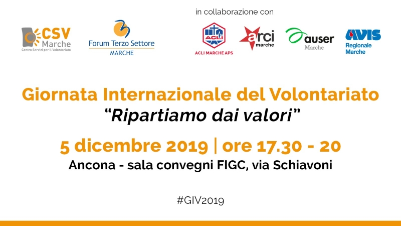 SAVE THE DATE - 5 dicembre 2019